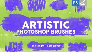 Photo of [Photoshop] 30 Artistic Stamp Brushes Vol 1