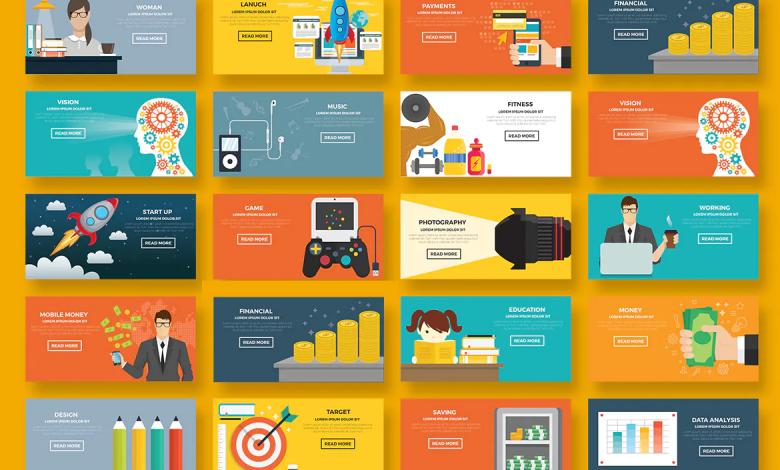 19 Banners for Illustrator