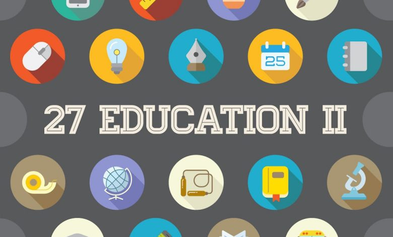 27 Vector Education Flat Icons Set (Vol. 2)