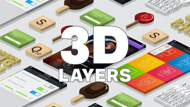 Photo of [Photoshop] 3D Isometric Layers Action