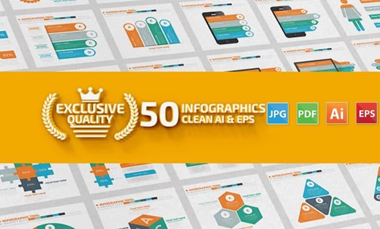 50 Infographics Design for Illustrator