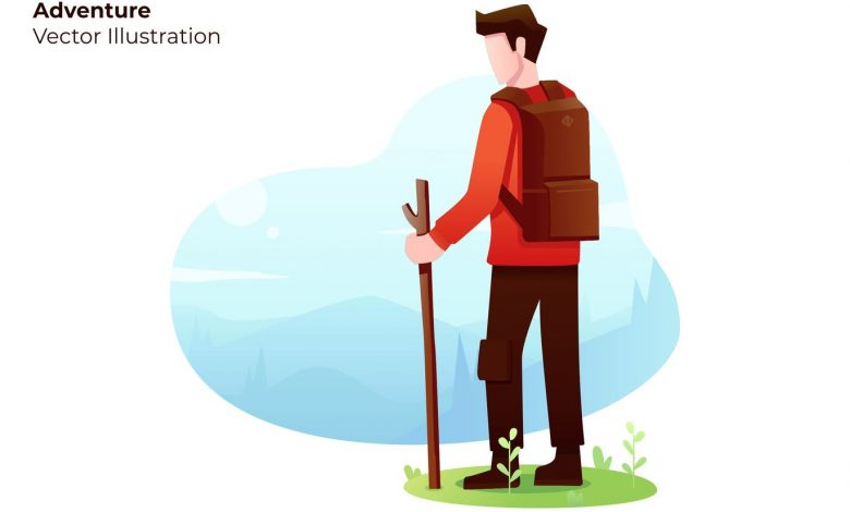Adventure Vector Illustration for Illustrator