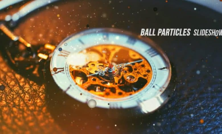 Ball Particles Slideshow for After Effects