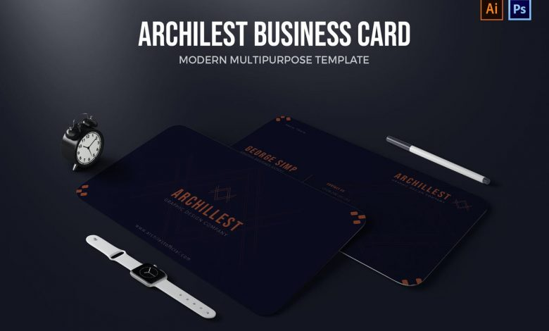 Business Card Template v2 for Photoshop and Illustrator