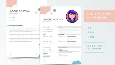 Photo of CV Resume Template 1 for Photoshop and Illustrator