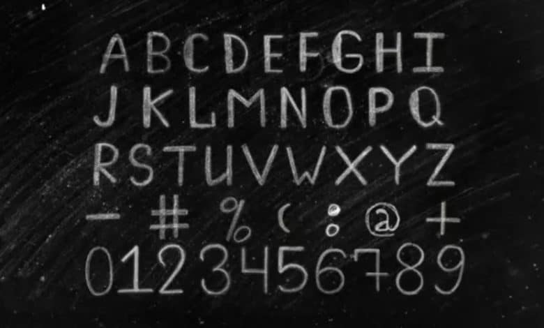 Chalk Alphabet for After Effects