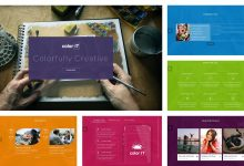 Photo of Colorful Single Page HTML Template