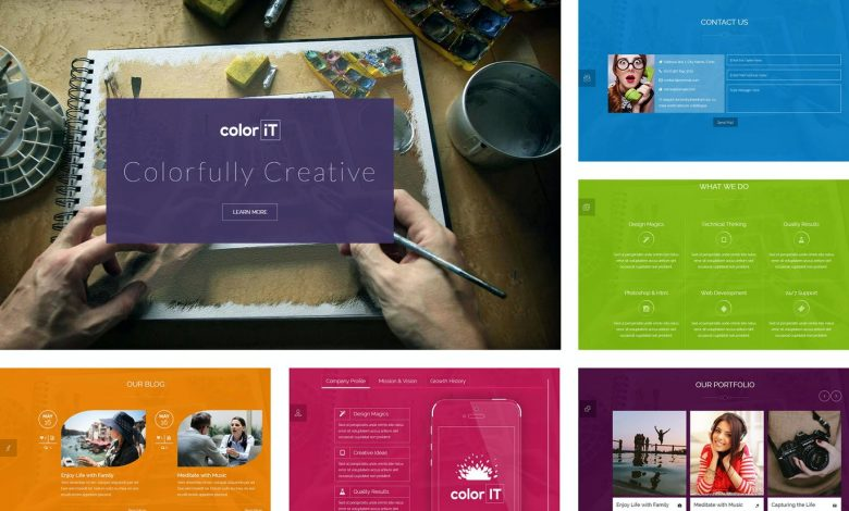 Colorful Single Page HTML Template