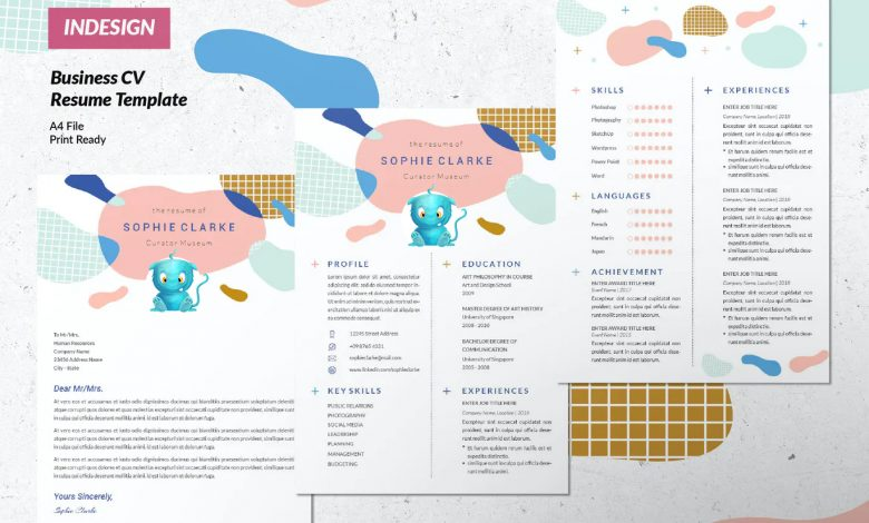 Creative Business Resume Template 1 InDesign