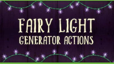 Photo of [Illustrator] Fairy Light Generator Actions