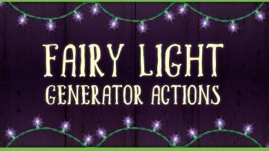 Photo of [Illustrator] Fairy Light Generator Actions
