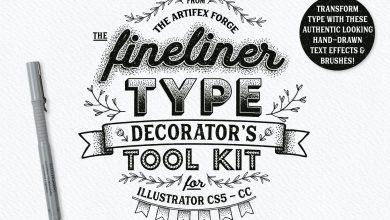 Photo of [Illustrator] Fineliner Type Decorator's Tool Kit