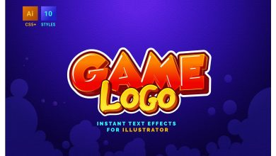 Photo of [Illustrator] Game Logo Text Effects