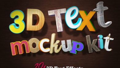 Photo of [Photoshop] 3D Text Mockup Kit