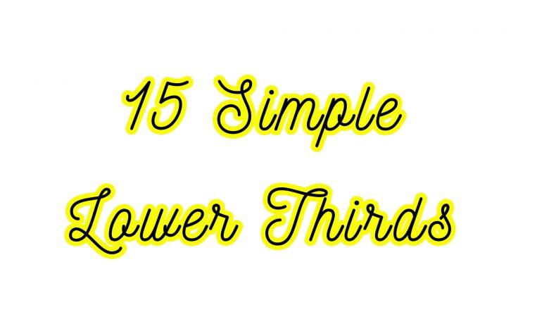 15 Simple Lower Thirds Premiere Pro
