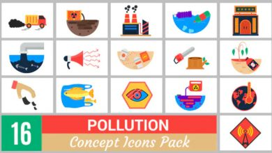 Photo of [Premiere Pro] 16 Pollution Concept Icons Pack