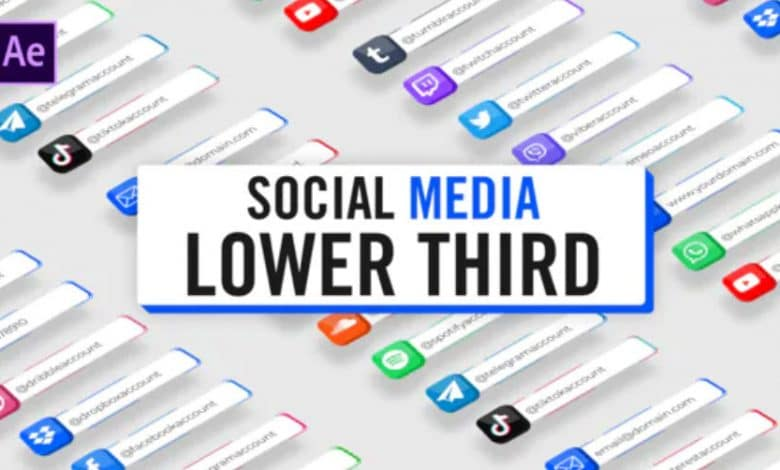 3D Social Media Lower Thirds for Adobe After Effects