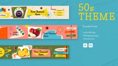 Photo of 50s Theme Youtube Cover for Photoshop and Illustrator