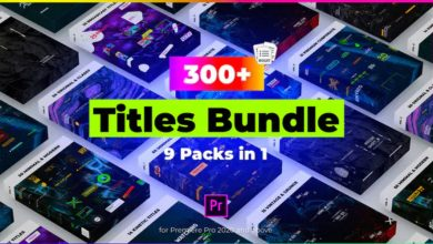 Photo of [Premiere Pro] 9 in 1 Titles Pack Bundle