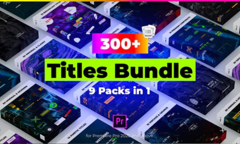 9 in 1 Titles Pack Bundle for Premiere Pro
