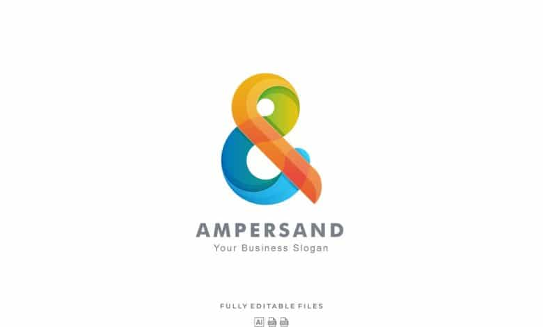 Abstract Color Gradient Logo Template