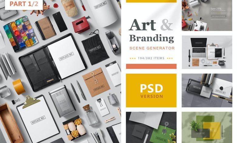 Art and Branding Scene Generator (Part 1) for Photoshop
