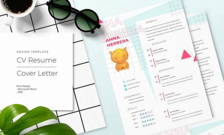 CV Resume Template Word Vol 1-1