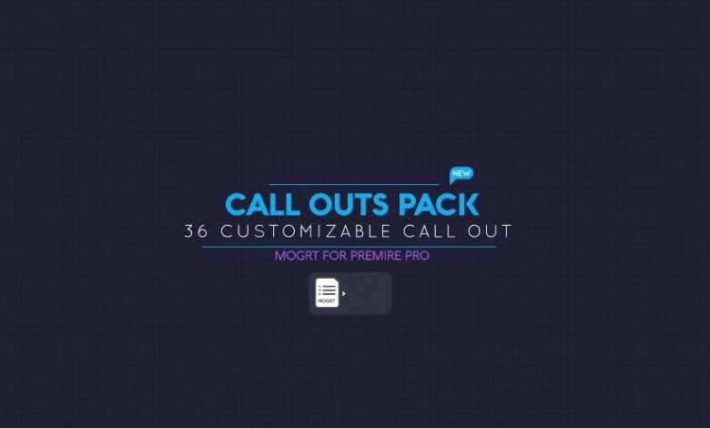 Call Out Pack for Premiere Pro