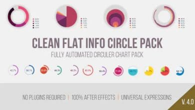 Photo of [After Effects] Clean Flat Info Circle Pack