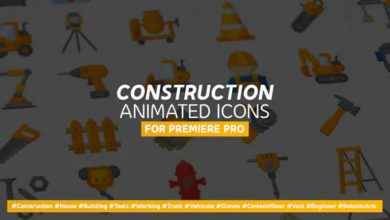 Photo of [Premiere Pro] Construction and Painting Modern Flat Animated Icons