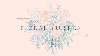 Photo of [Illustrator] Floral Flexible Brushes