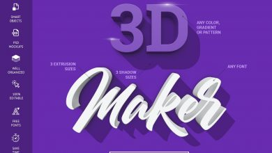 Photo of [Photoshop] 3D Maker Text Effects