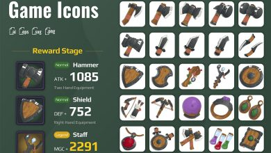 Photo of [Illustrator] 25 Iconset Medieval Equipment for Games