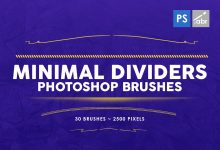 Photo of [Photoshop] 30 Minimal Dividers Stamp Brushes