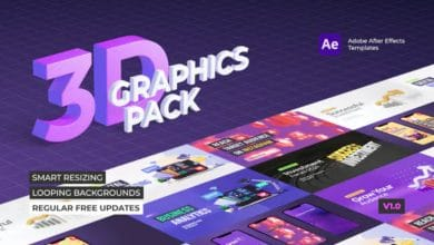 Photo of [After Effects] 3D Graphics Pack