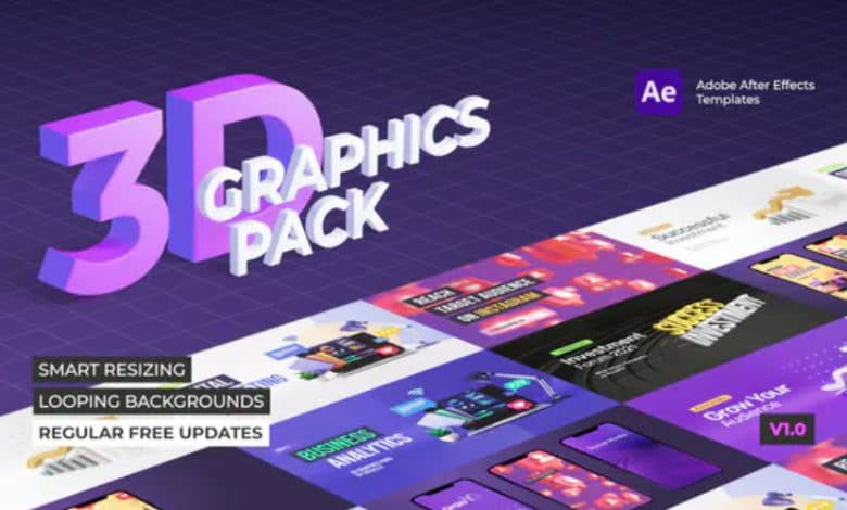 3D Graphics Pack for After Effects