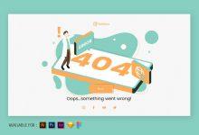 Photo of 404 Page Error – Web Isometric Illustration