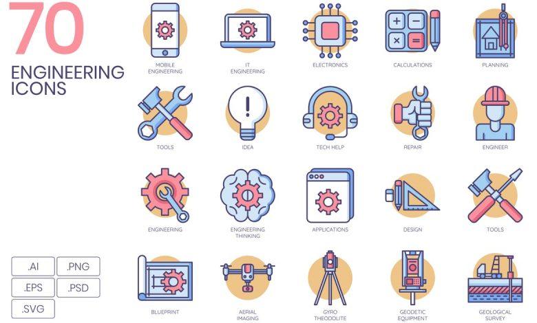 70 Engineering Icons