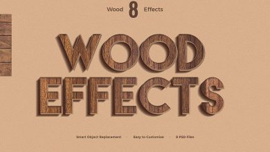 Photo of [Photoshop] 8 Wood Text Effects