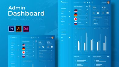 Photo of Dashboard Admin Template for Photoshop and Illustrator