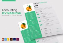 Photo of Accounting Accountant CV Resume Template 2 for Photoshop and Illustrator