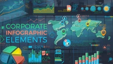 Photo of [After Effects] Colorful Corporate Infographic Elements