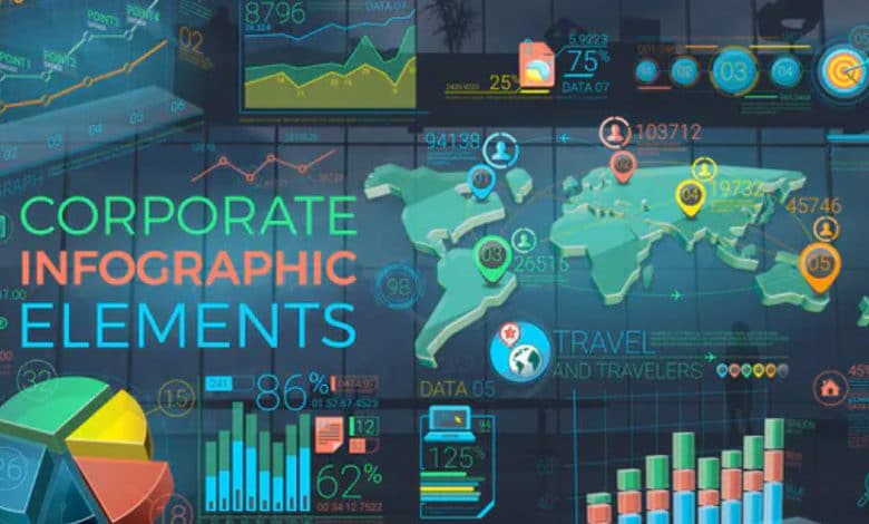 Colorful Corporate Infographic Elements for After Effects