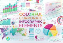 Photo of [Illustrator] Colorful Corporate Infographic Elements