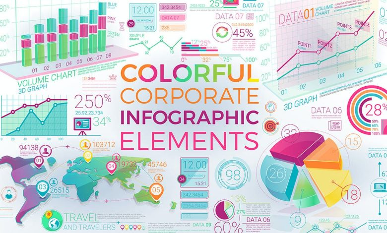 Colorful Corporate Infographic Elements for Illustrator