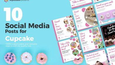 Photo of [Illustrator] Cupcake Posts for Social Media