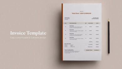 Photo of [Illustrator] Invoice Design Template 4