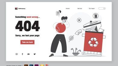 Photo of 404 Error Page – Web Illustration