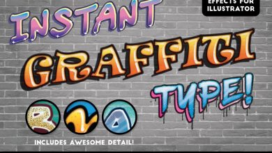 Photo of [Illustrator] Instant Graffiti Type Effects