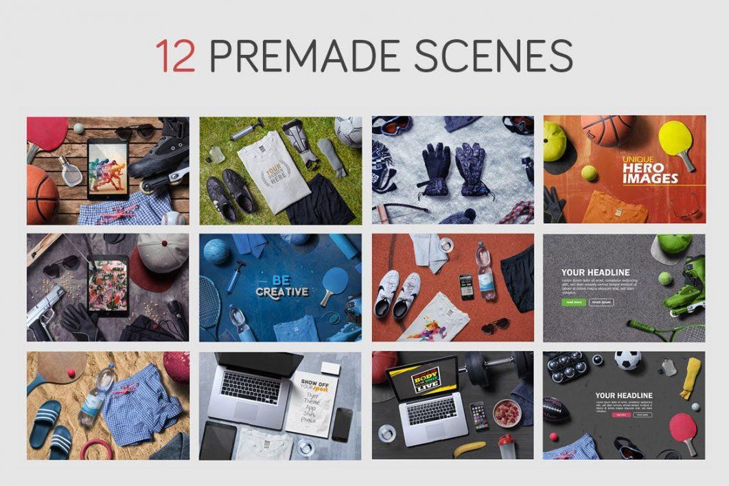 12 premade scenes